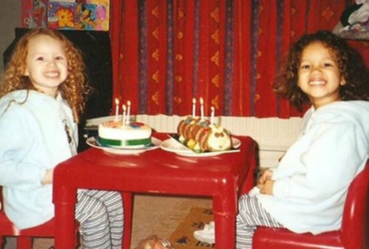 Lucy and Maria Celebrating a Birthday