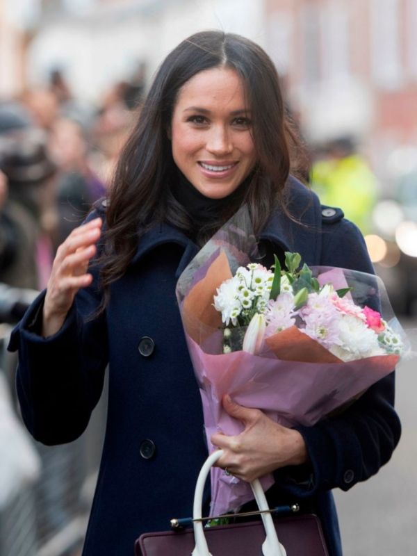 Meghan Markle with flowers