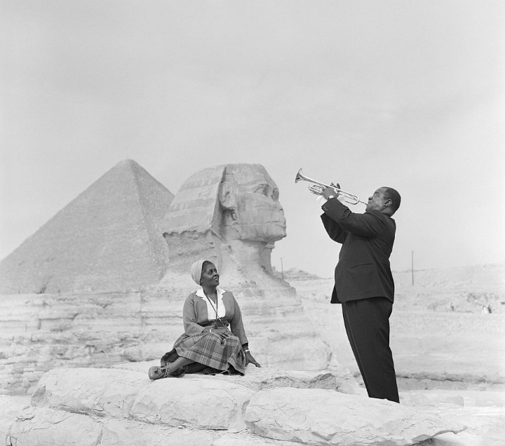 Louis Armstrong and His Wife Lucille