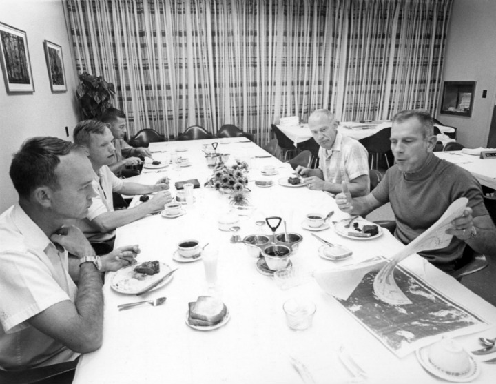 Neil Armstrong Eating Breakfast Before the Launch to Space