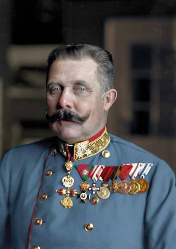 Archduke Franz Ferdinand of Austria in Color