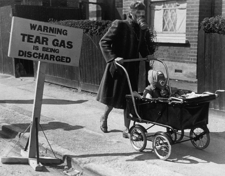 Anti-Gas WWII Baby Carriage