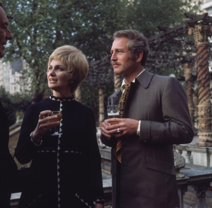 Paul Newman and His Wife in London