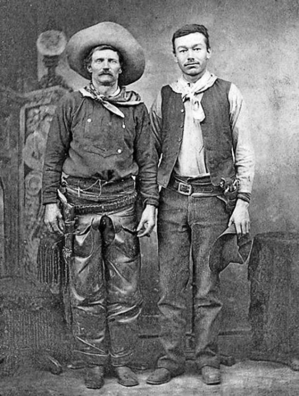 Billy the Kid & Pat Garrett only known photo