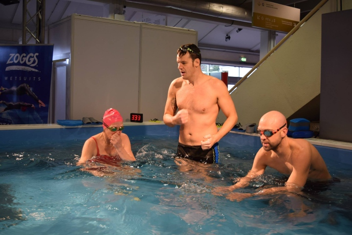 Adam Walker Giving Swimming Lessons