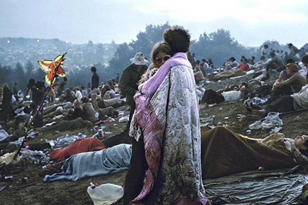 Bobbi Kelly and Her Boyfriend Nick Ercoline at Woodstock