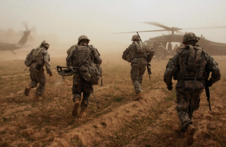 soliders in the military
