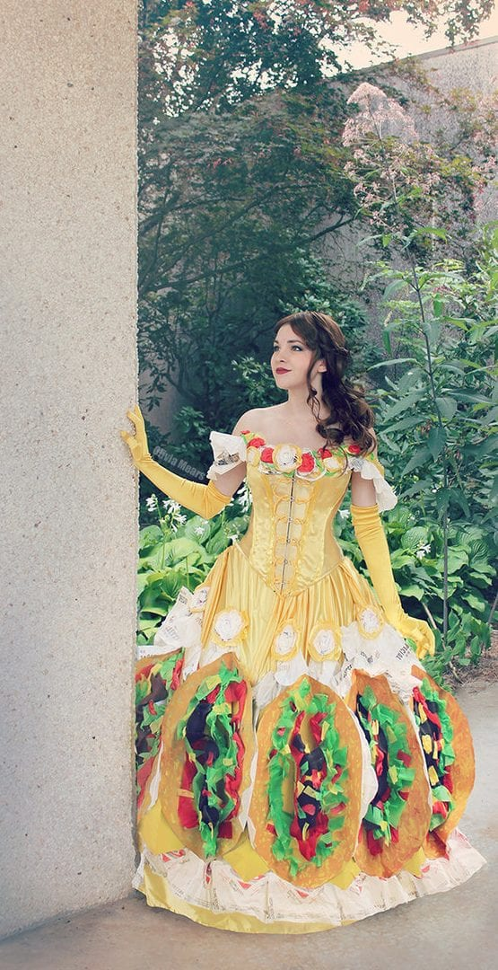 taco bell belle beauty and the beast disney halloween costumes