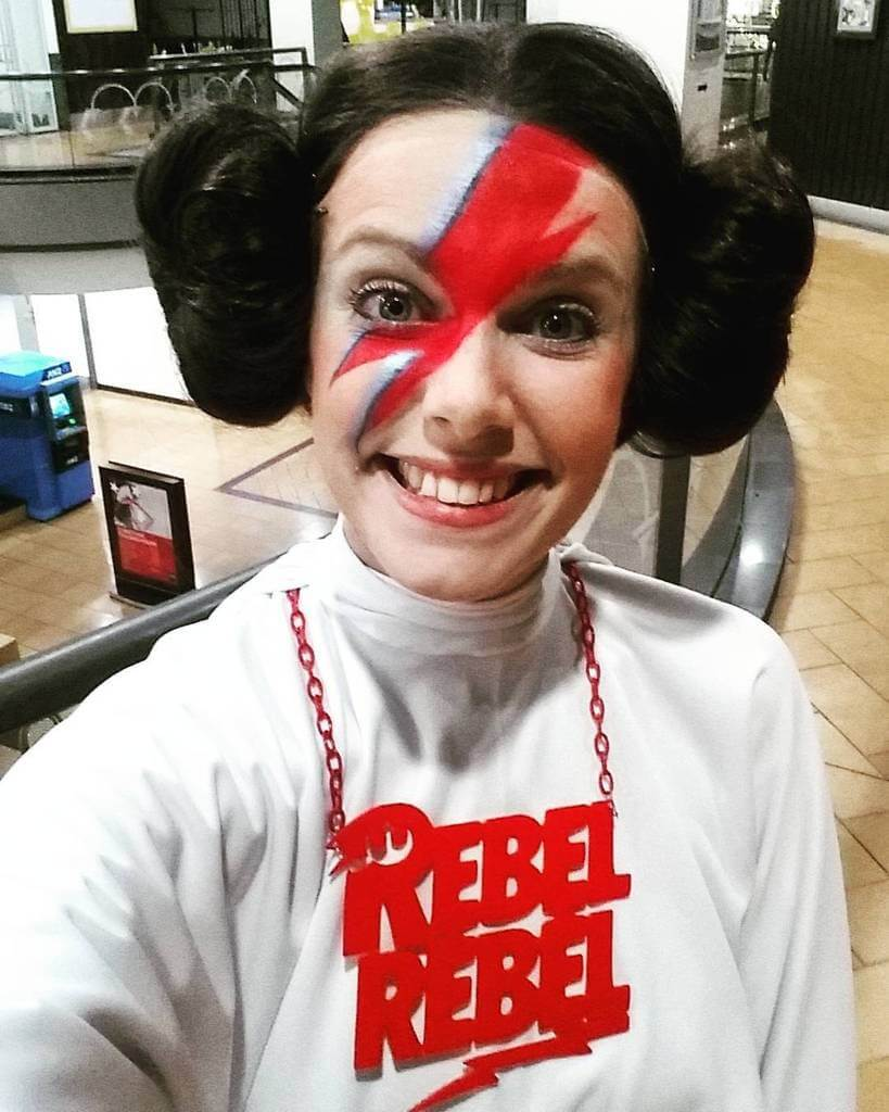 rebel rebel david bowie princess leia star wars halloween costumes