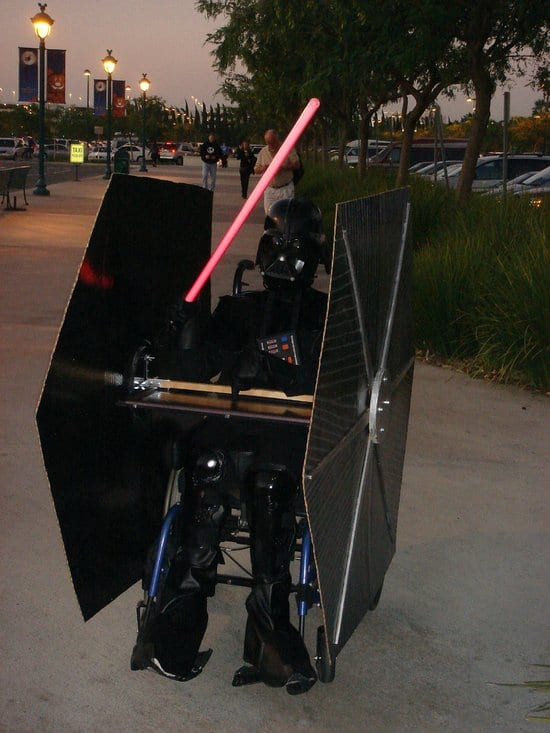 wheelchair handicapped darth vader star wars halloween costumes