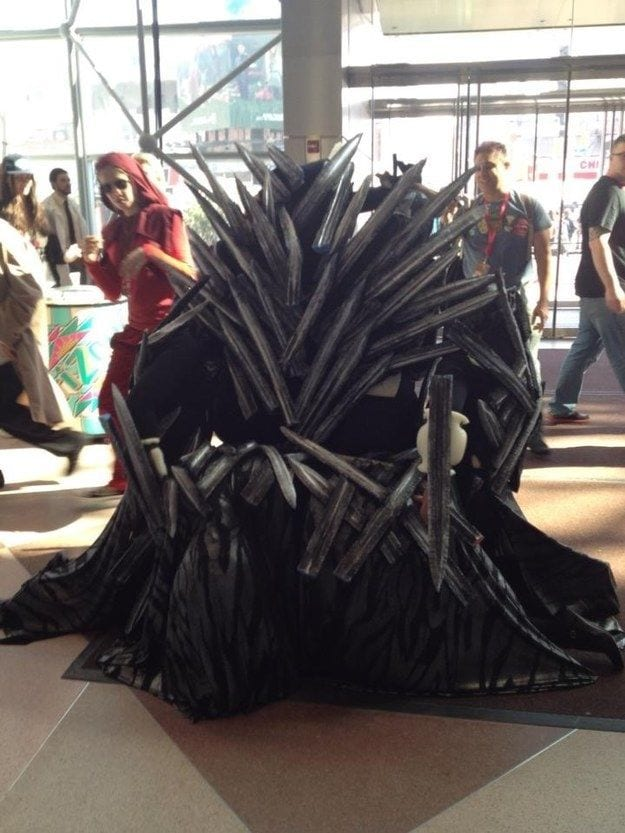 iron throne game of thrones halloween costumes