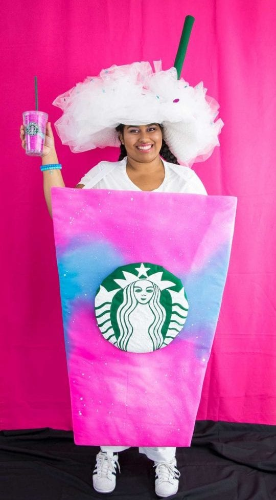 starbucks unicorn frappuccino halloween costumes pink