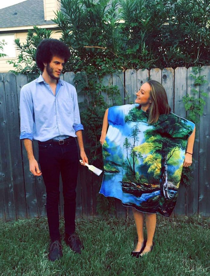 bob ross painting picture halloween costumes