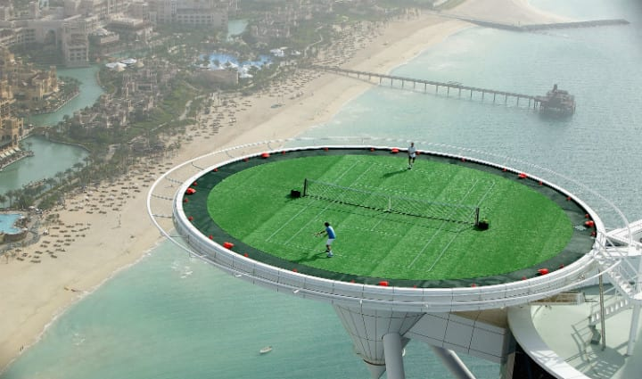 Dubai - tennis court
