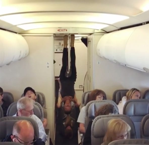 yoga air travel galley