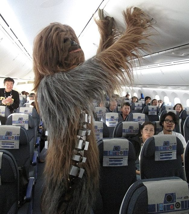 chewbacca star wars air travel