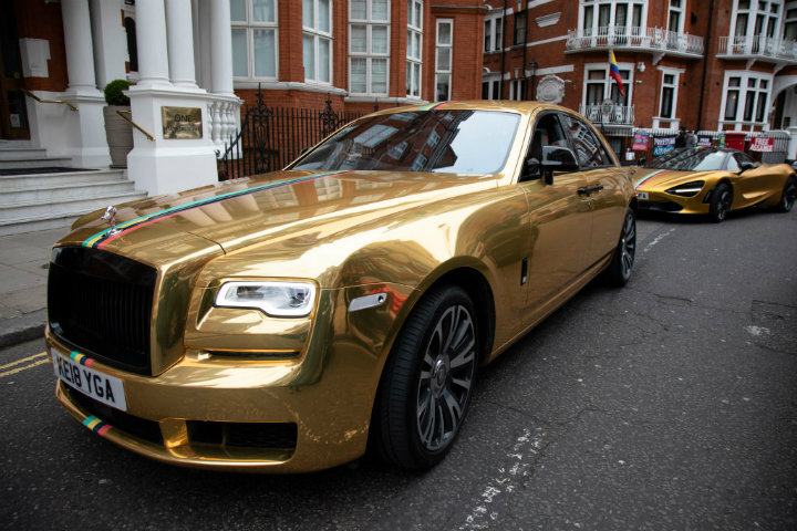 Gold Car Dubai