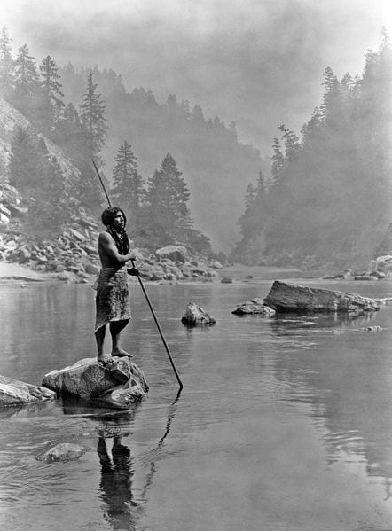hupa fisherman native american photos