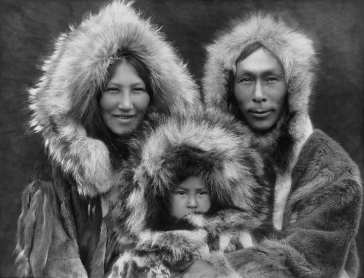 Native American Inupiat Family