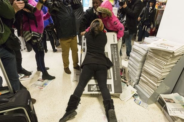 black friday fight shoppers