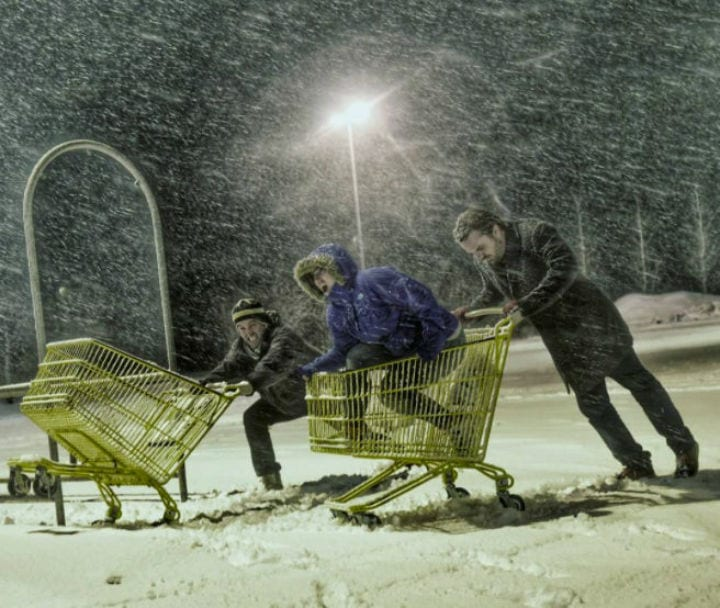 shopping carts winter storm black friday