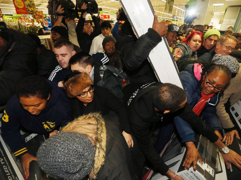 black friday britain british shopping fight