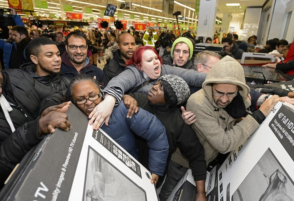 black friday struggle fight