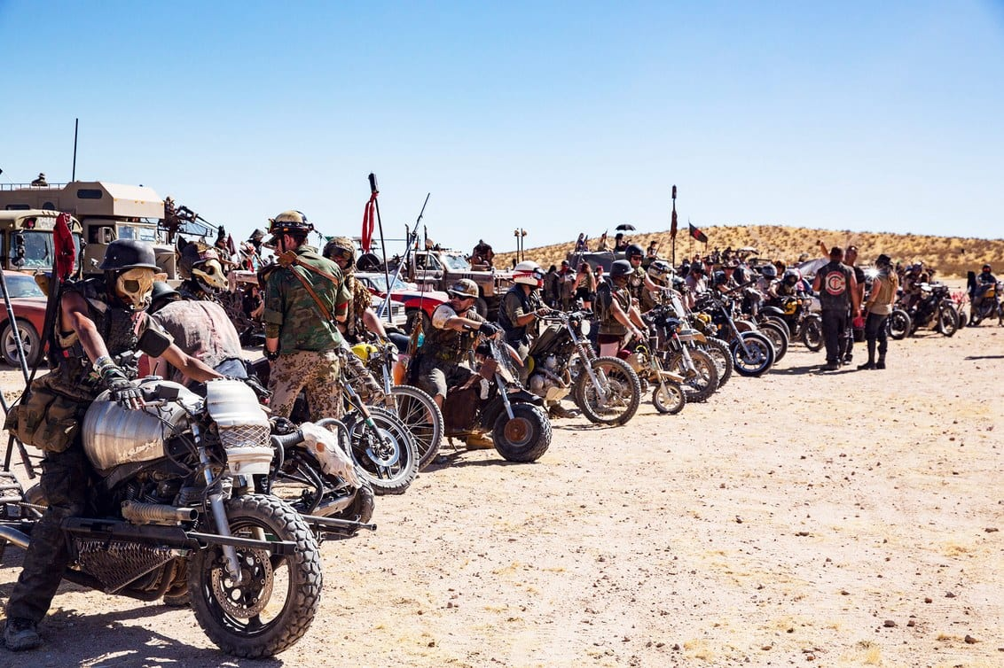 motorcycles motorcyclists festival mad max wasteland