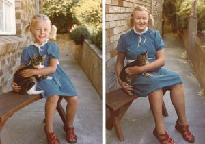 childhood photos recreated