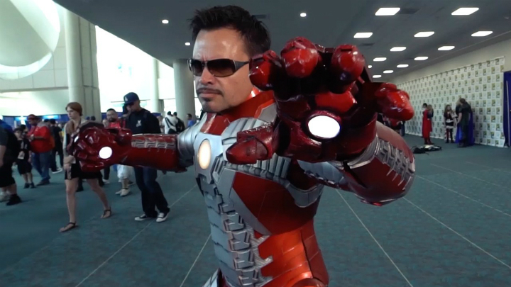 iron man cosplay comic con