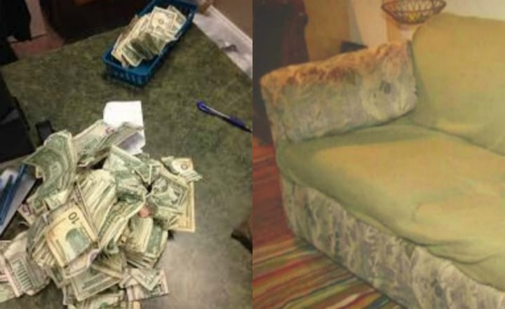 Used Couch and Money