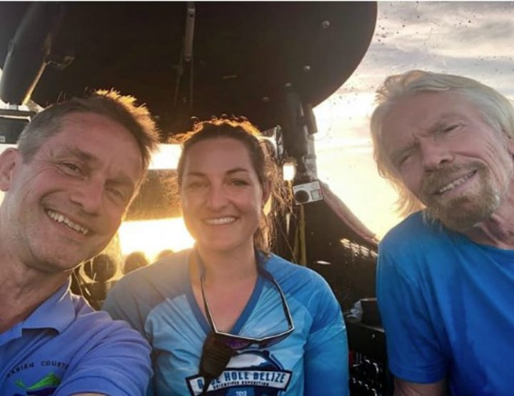 blue hole richard branson fabien cousteau