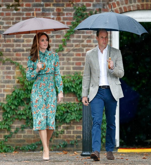 Duke and Duchess of Cambridge in White Garden