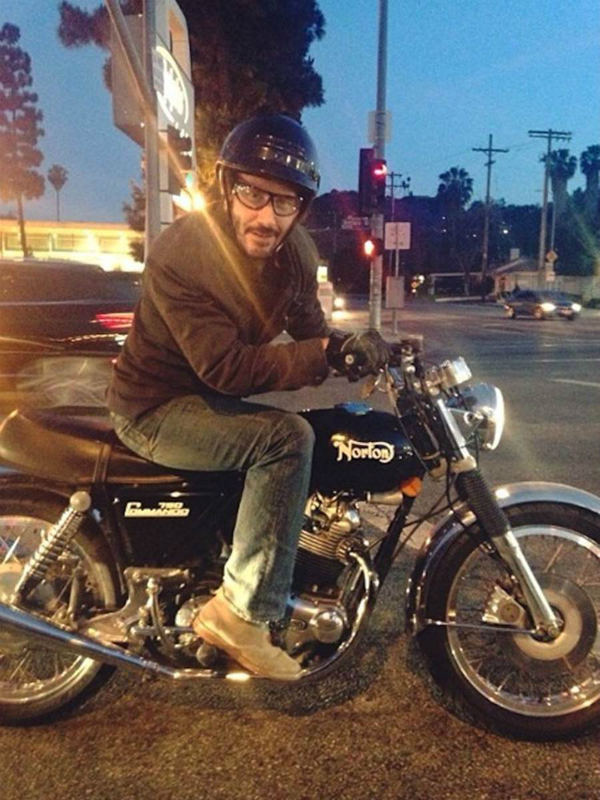 Keanu Reeves on Motorcycle