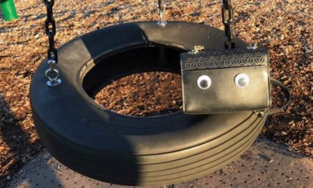 Purse on Tire Swing