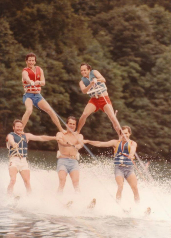 waterskiing dad cool parents