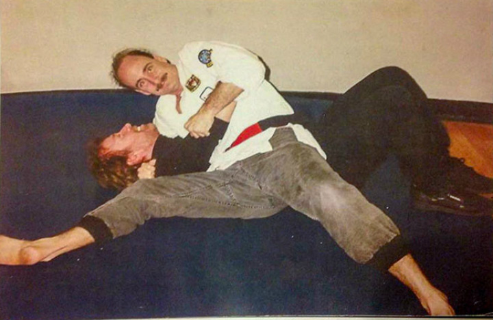 dad wrestling chuck norris cool parents