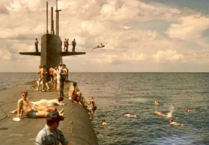pacific nuclear submarine diving summer cool parents