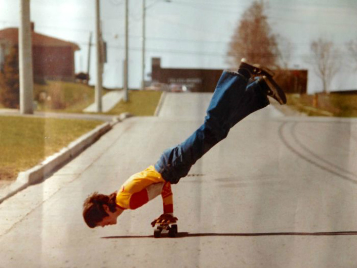 skateboard handstand dad cool parents