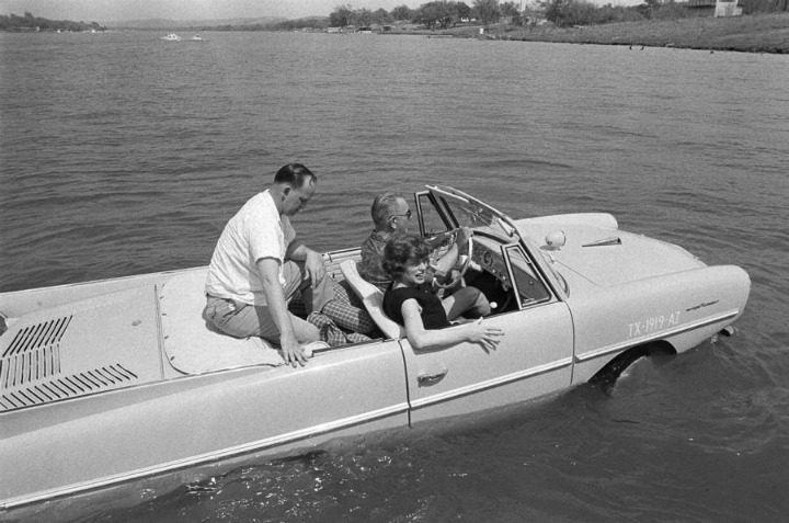 aquatic waterproof car lbj lyndon johnson president usa futuristic inventions