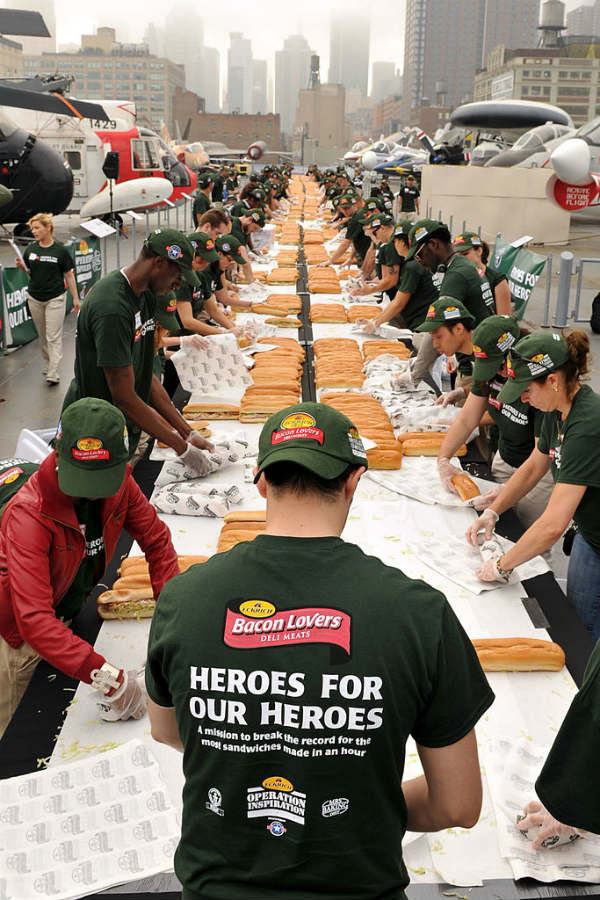 sandwiches guinness world record