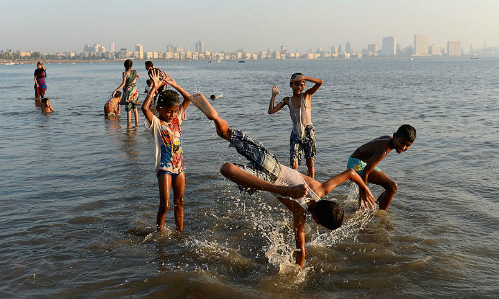 chowpatty beach mumbai bombay india dangerous places to swim