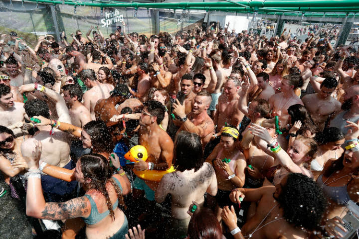 irish spring public shower guinness world record