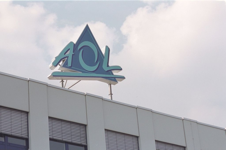 aol logo meaning behind brand name