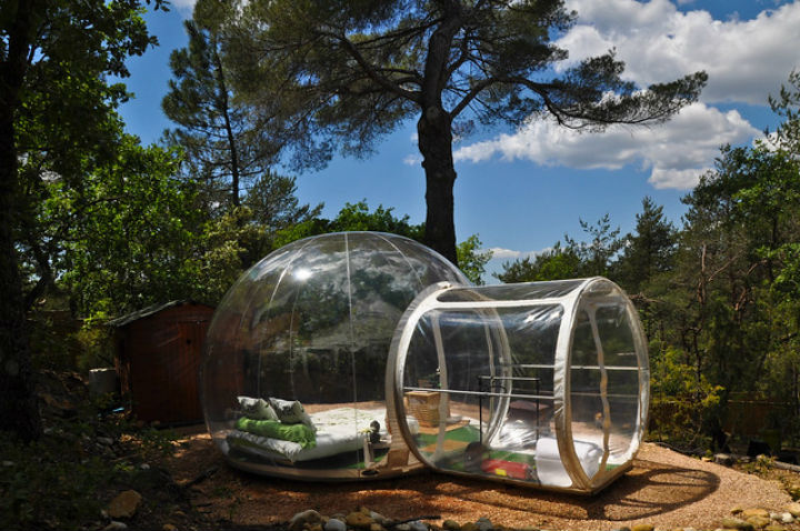 attrap reves plastic bubble france coolest hotels