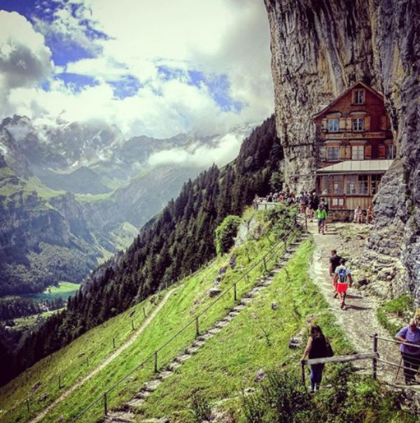 cliff switzerland swiss coolest hotels