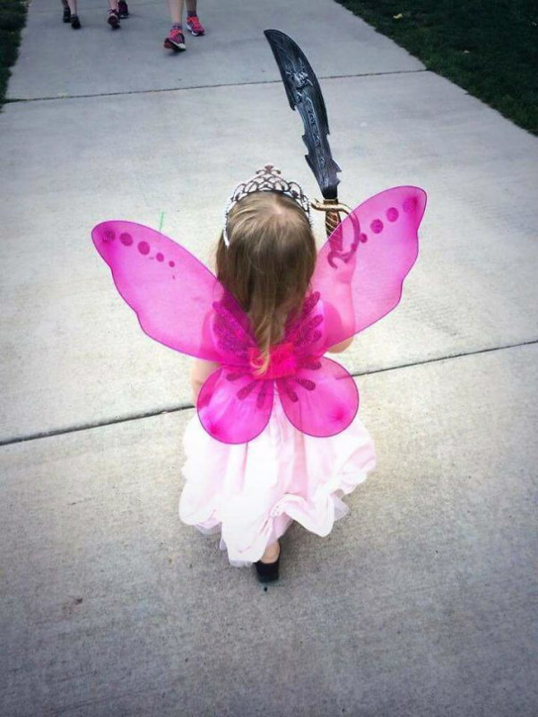 hilarious kids fairy sword costume