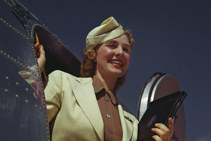 Airplane Stewardess Vintage