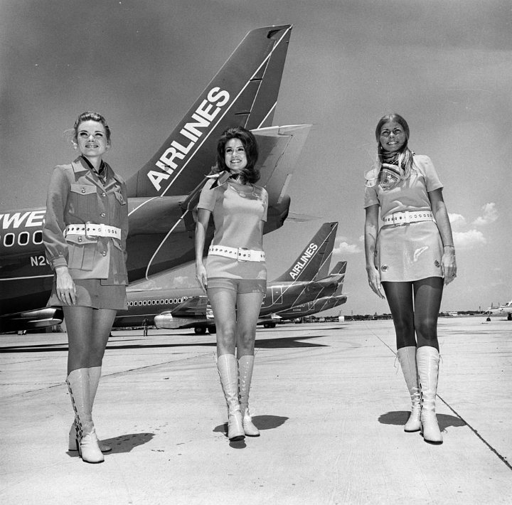 Vintage air travel - stewardesses
