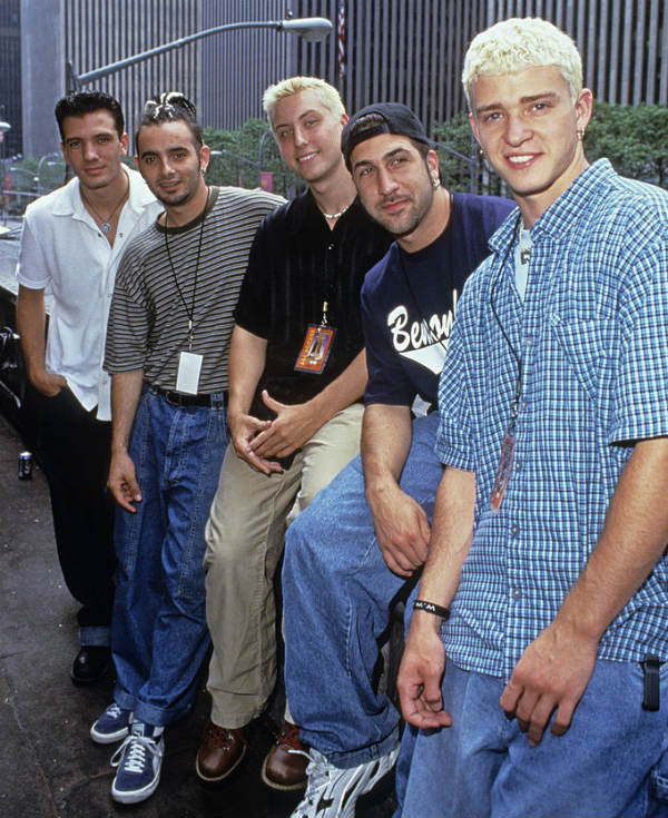 nsync boy band bleached bleach hair trend trends hairstyle